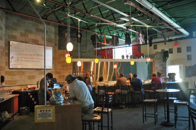 Inside the new Right Brain Brewery pub on 16th Street