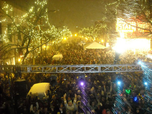 CherryT Ball Drop in downtown Traverse City