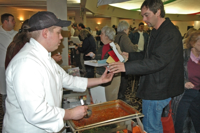 Warming up at Traverse City's Downtown Chili Cookoff