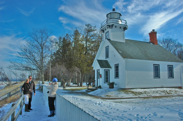 Saturday sightseeing at the Mission Point Lighthouse on Old Mission Peninsula.
