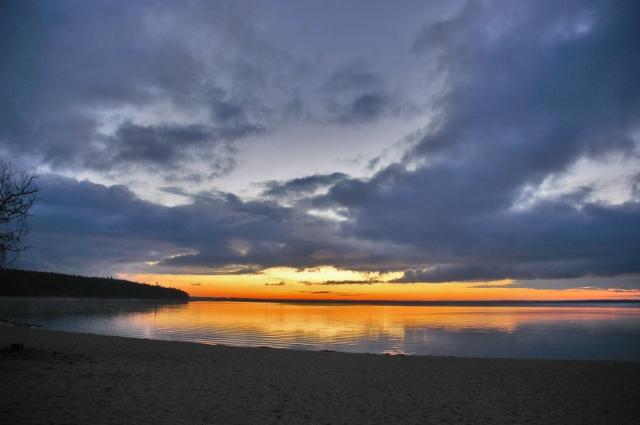 Winter sunrise over East Bay