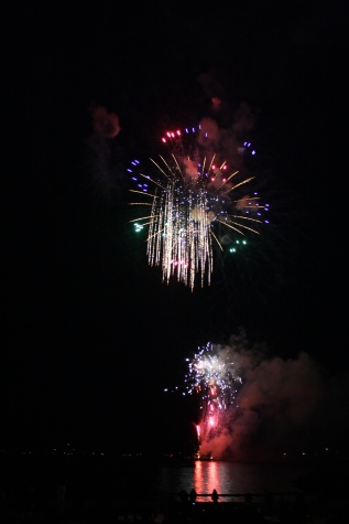 The 2012 Fireworks over Grand Traverse Bay.