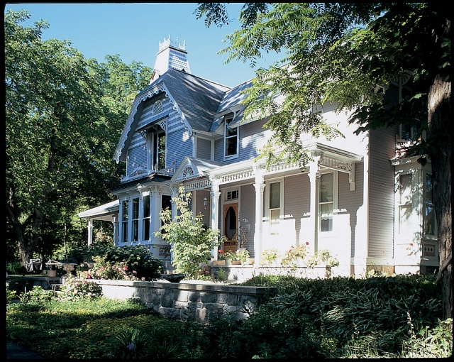 "An ornate ""painted lady"" on Traverse City's West Side"