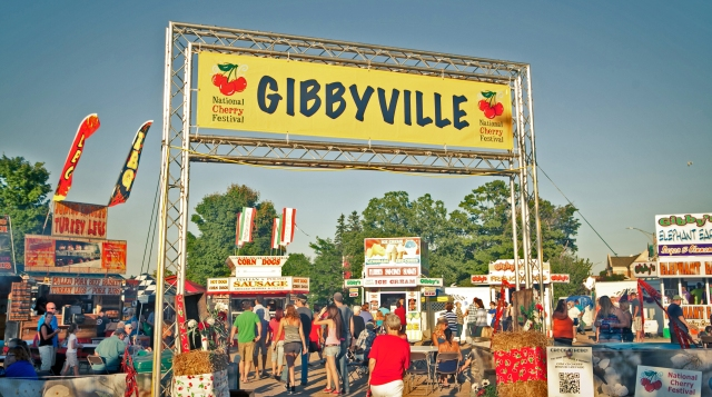 Gibbeyville, home of fragrant (and mostly fried) festival food.