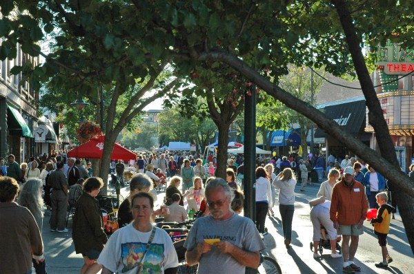 Friday Night Live in downtown Traverse City. Yeah, that's a lot of people...